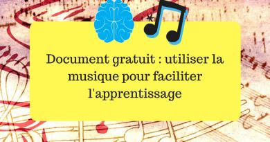 Document gratuit : utiliser la musique pour faciliter l'apprentissage