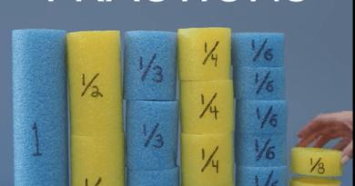 Astuce : comprendre les fractions avec des nouilles de piscine !
