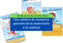 Cet éditeur offre des cahiers de vacances de la maternelle à la 6e (MS, GS, CP, CE1, CE2, CM1, CM2,6e)