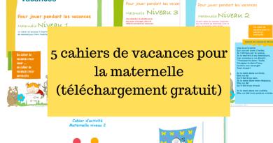 5 cahiers de vacances pour la maternelle (téléchargement gratuit)
