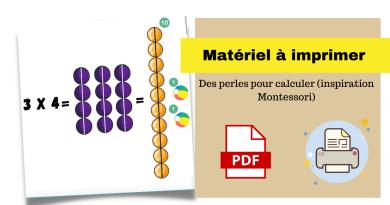 Des perles pour calculer (inspiration Montessori)
