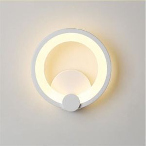acrylic led wall light in ring shape