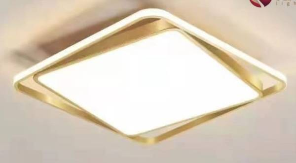 2 x 2 surface mounted light with golden frame at ecolight angamaly