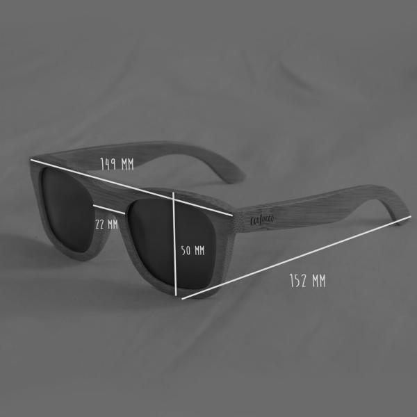 bambusove okuliare rozmery