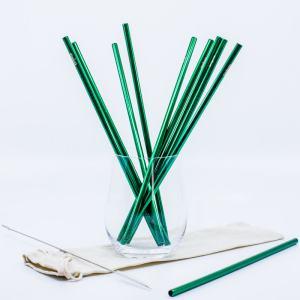 Zelená kovová slamka – rovná
