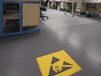 esd floor tiles pvc static