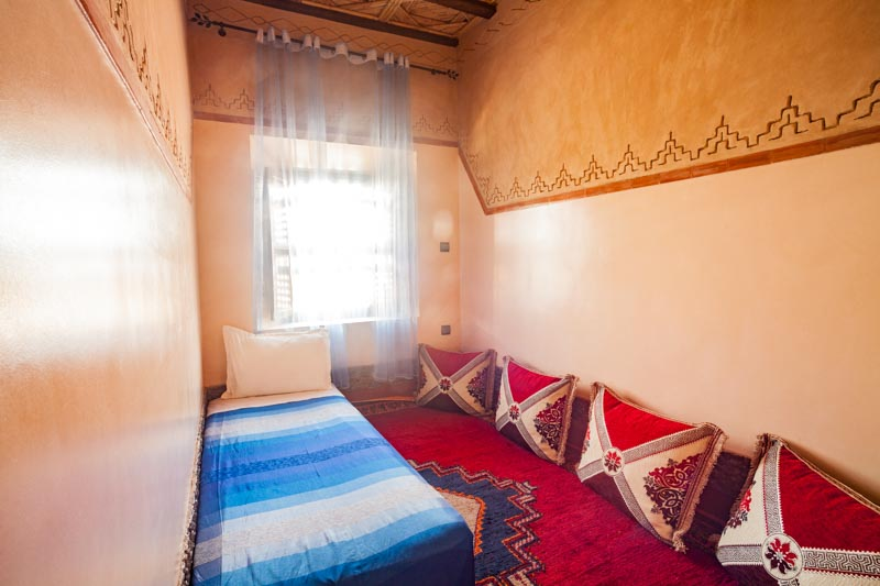 Ecolodge Lile de Ouarzazate lodge living room single bed