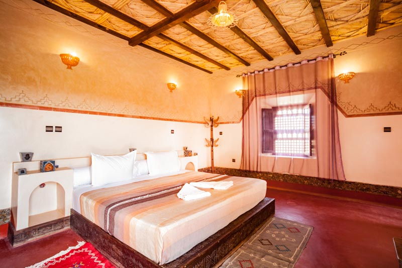 Ecolodge lile de Ouarzazate white Double room inside