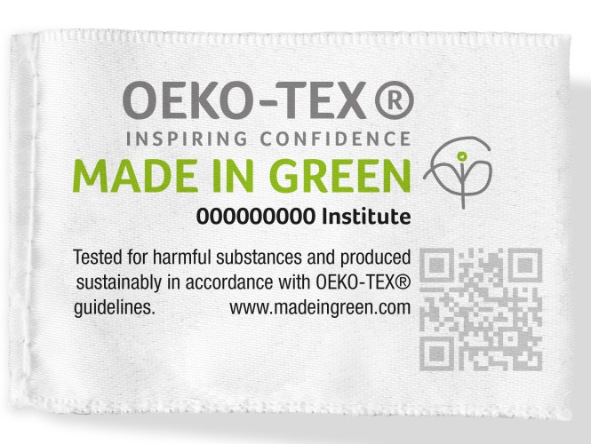 Example of the MADE IN GREEN by OEKO-TEX® label