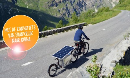Met de zonnefiets van Frankrijk naar China