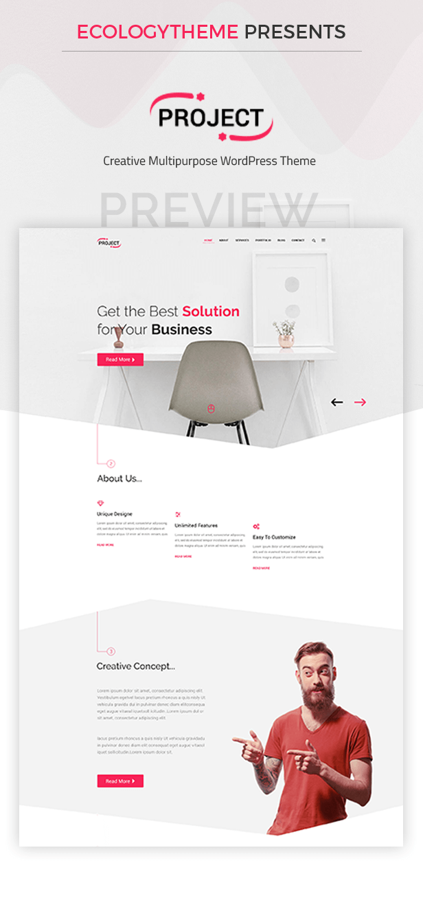 Project - Creative Multipurpose WordPress Theme Features