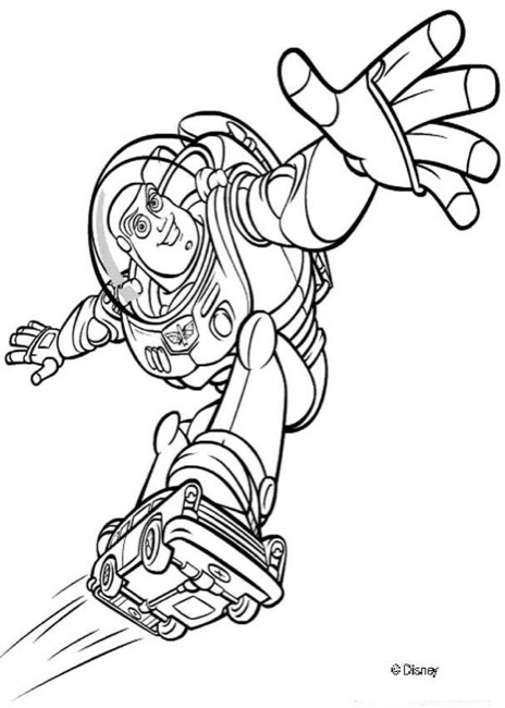 buzz lightyear coloring page # 56