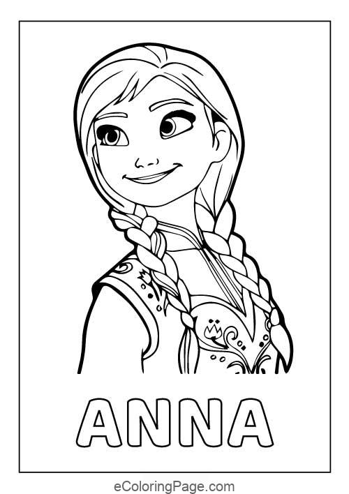 Frozen 2 Princess Anna Printable Coloring Pages