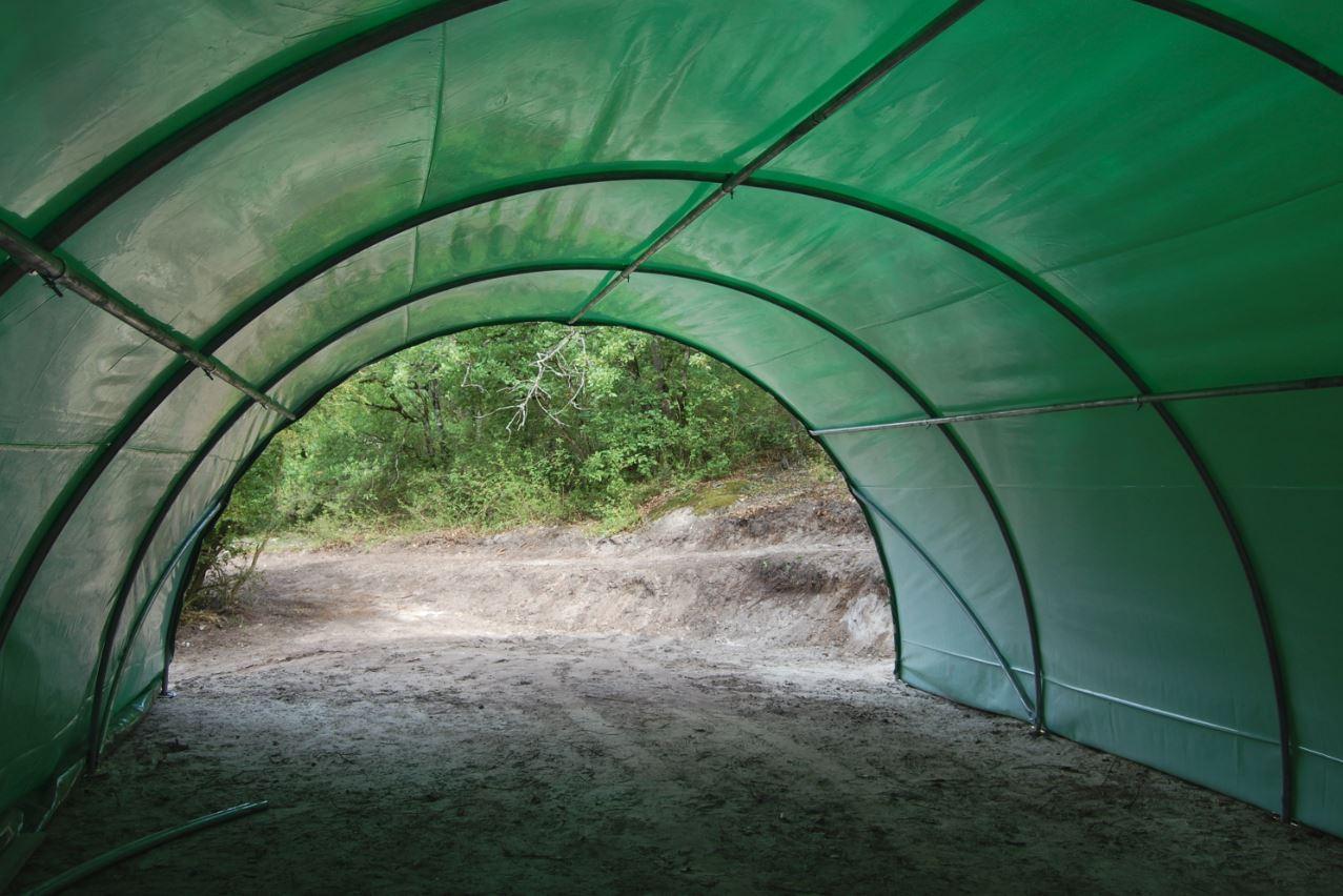 abri tunnel de jardin renforce mini 6m de large avec bache pe 250µ