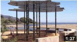 April 17, 2013 Erecting the Kelp Canopy.  The kelp canopy emerges at Malibu Lagoon.  It provides shade for educational groups and other visitors meeting at the majestic entrance.  NOTE: Click on image to see video.