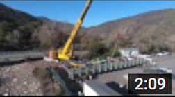 December 2, 2016 - Lower bridge installation over Arroyo Sequit Creek.  Time lapse and aerial drone photography were used to document the installation by Oak Tree Construction of the lower bridge over Arroyo Sequit Creek in Leo Carrillo State Park between November 29 and December 1st 2016. The bridge will allow the endangered southern steelhead trout access to an additional 4.5 miles of good habitat.