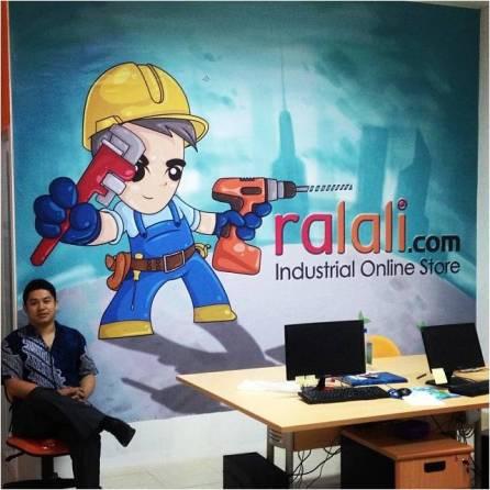 Joseph at Ralali's office