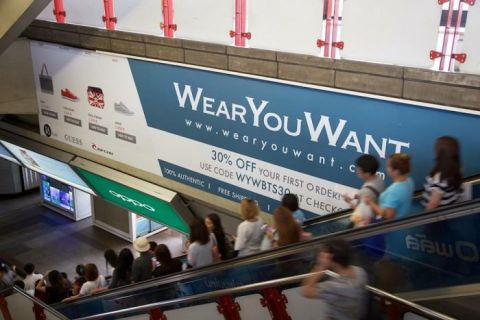 WearYouWant offline campaign on BTS