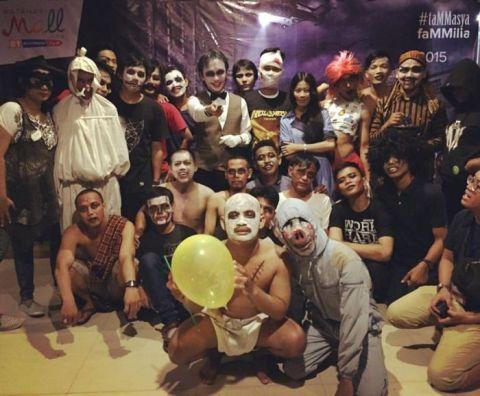 MatahariMall team on Halloween