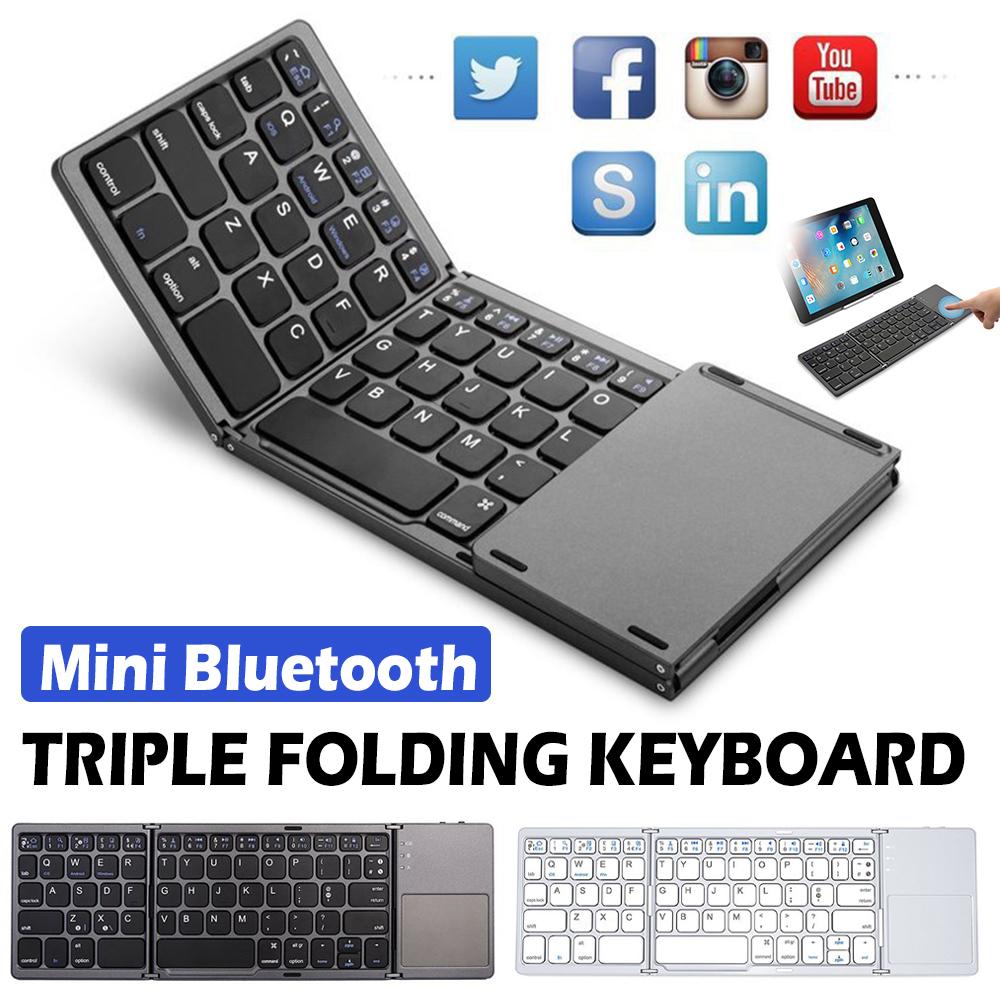Wireless Folding Bluetooth Keyboard