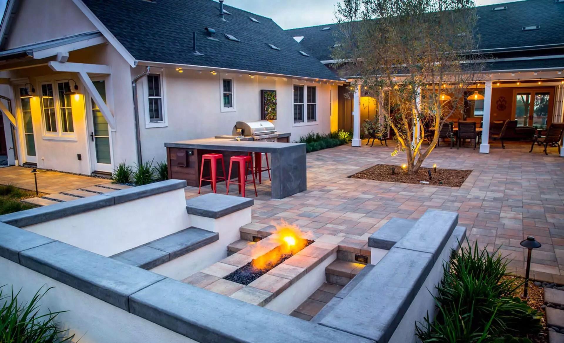 Hardscape Design in San Diego, CA   Backyard Design ... on Hardscape Backyard id=22842