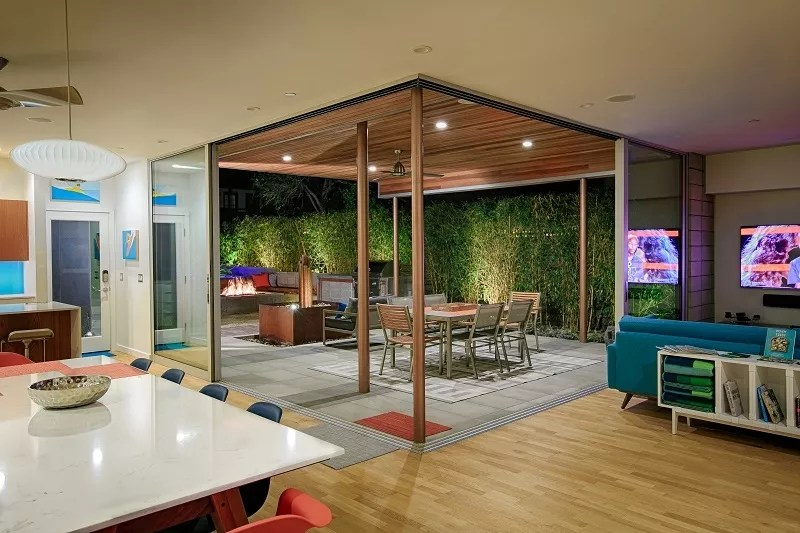 Transitional Indoor/Outdoor Living Spaces | Custom Homes ... on Enclosed Outdoor Living Spaces  id=63380