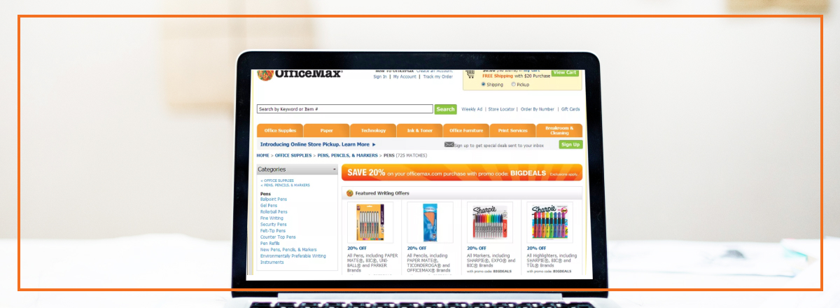 OfficeMax chalks up conversions with its new site search and navigation