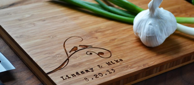 Out with custom cutting boards and in with custom coffee sleeves! (Image: Etsy)