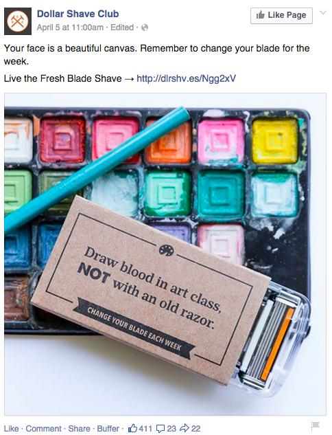 dollar shave club facebook brand