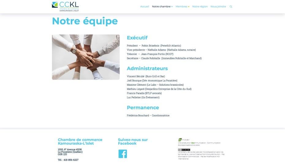 Page Équipe