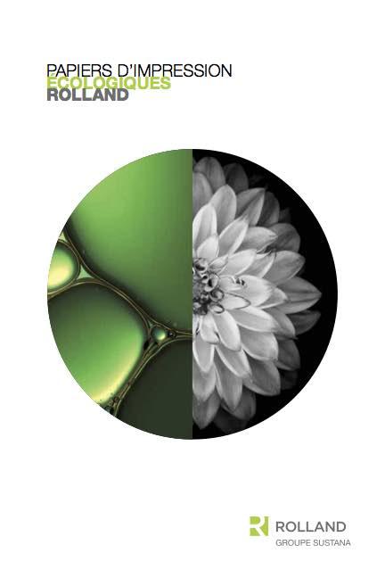 Couverture du guide papiers d'impression écologiques Rolland