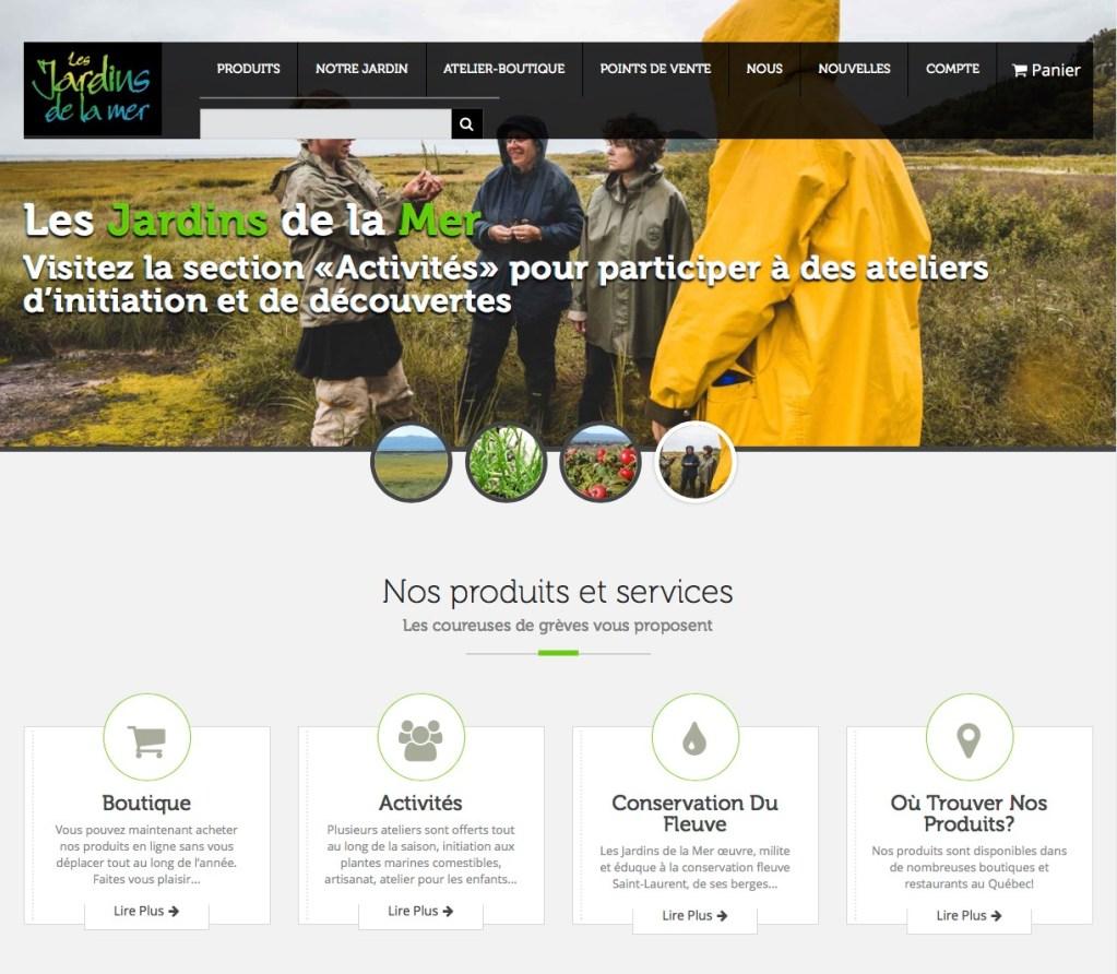 Page d'accueil multicontenus, mettant en valeur les sections principales du site.