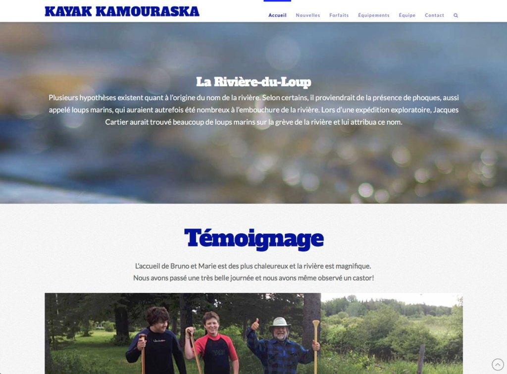 Page d'accueil suite