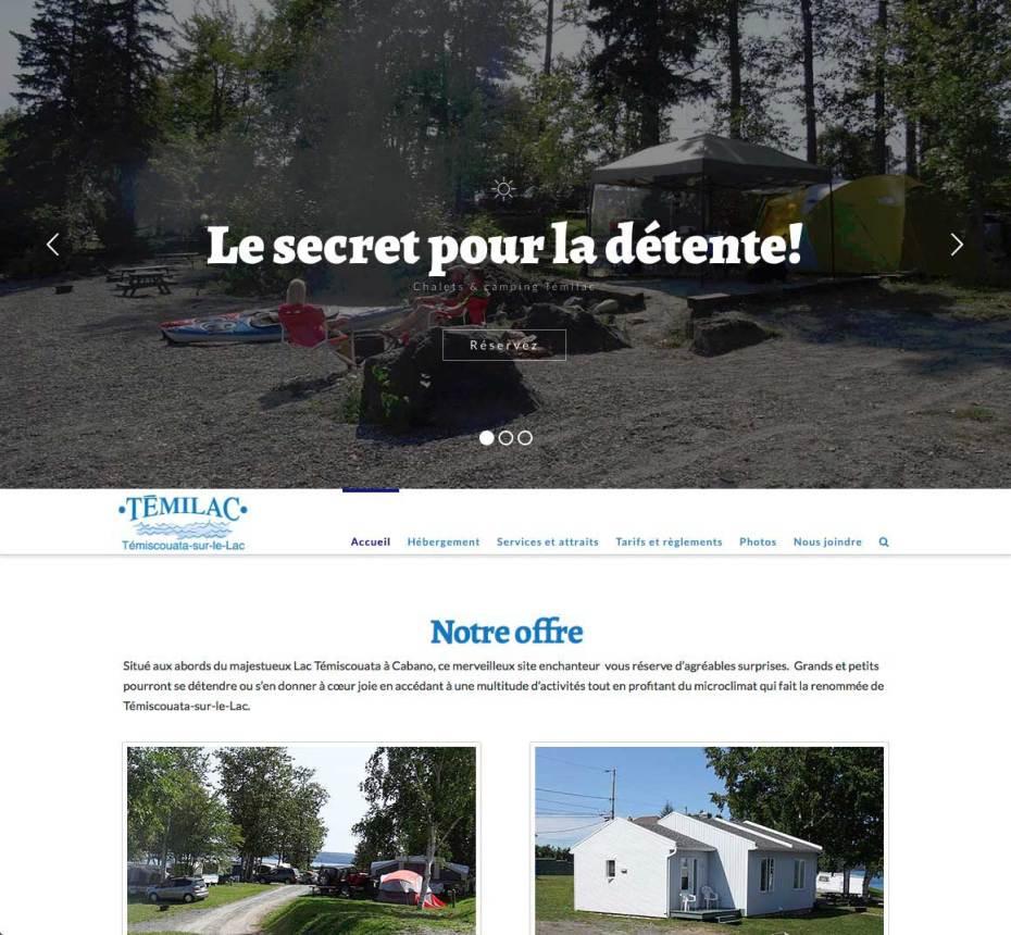 Page d'accueil avec diaporama interactif