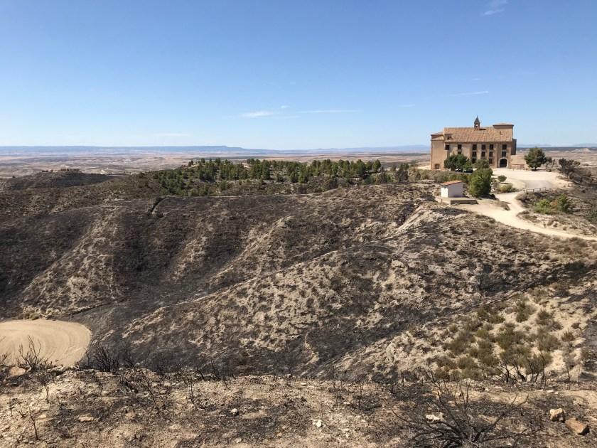 Santuario vista del incendio 2019