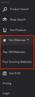 Hot website tab