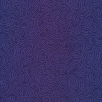 deep purple fabric with patterns of waves in darker purple