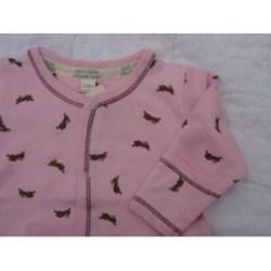 Pink Bunny sleeper detail