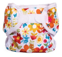 bright floral diaper wrap