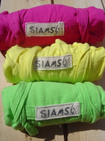 fuschia, yellow and lime siams pants