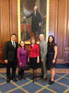 Photo with representative Speier