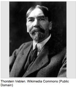 Thorstein Veblen originated the idea f conspicuous consumption