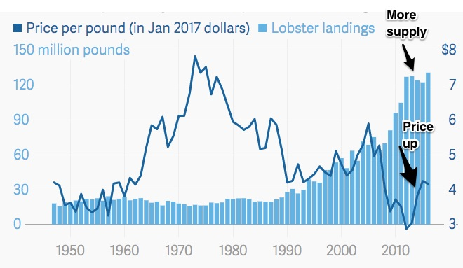 China's lobster demand