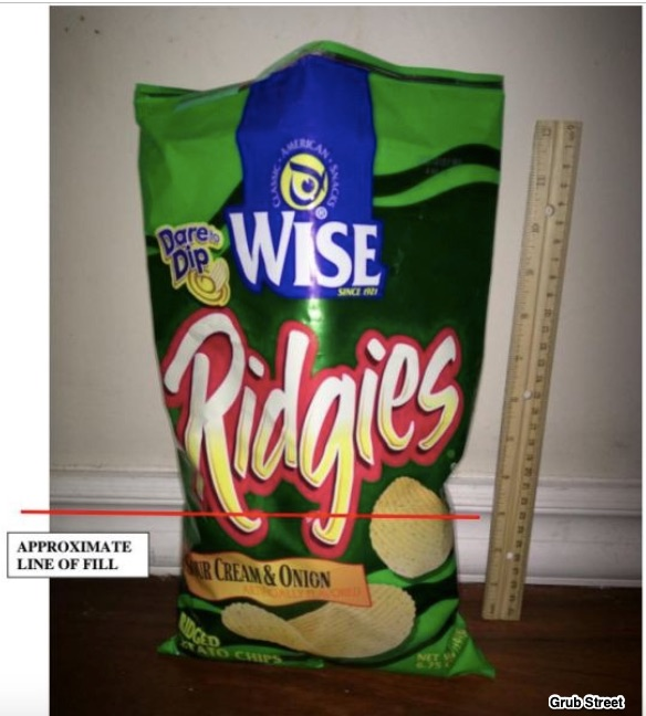 potato chip bags slack fill