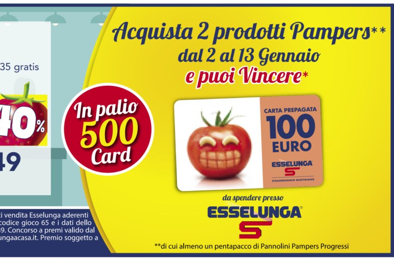 concorso Pampers vinci card Esselunga