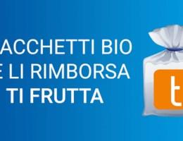sacchetti biodegradabili rimborso