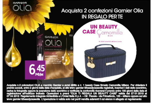 olia garnier beauty case da tigotà