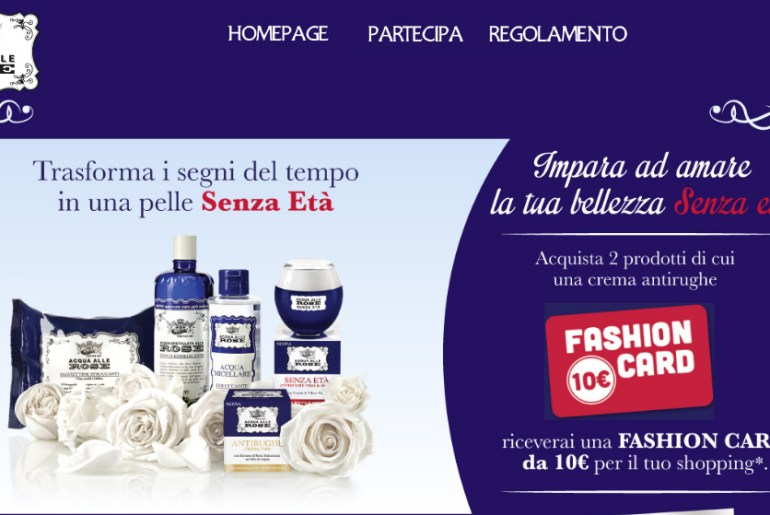 con acqua alle rose vinci card idea shopping