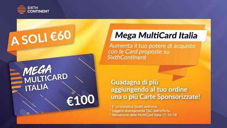 mega multicard offerta sixthcontinent