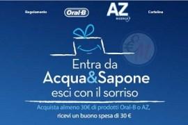 promo az e oral b da acqua & sapone